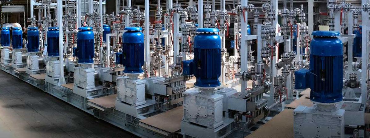 Sistemi di pompaggio per processi e macchinari industriali